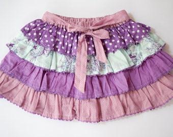 Sale,Girls Skirts,Girls Ruffled Skirt, Purple Skirt,Party Skirt,Summer Skirt,Polka Dot Skir,Birthday Skirt,Toddler Skirt,Ready To Ship