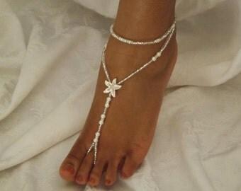 Beach Wedding Barefoot Sandles Starfish Foot Accessories Pearl Barefoot Sandals