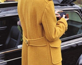 autumn wool trench coat with silk inlet