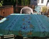 Square coated tablecloth 56'' by 56'', wisteria and lavender
