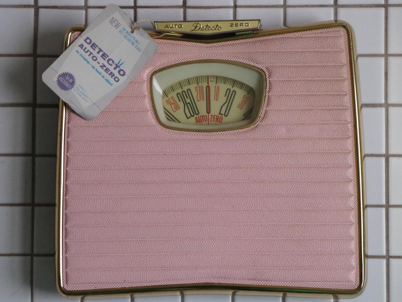 Fabulous Vintage 1950s Detecto PINK Bathroom Scale MINT