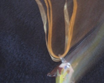 Multi-colored Blown Glass Dolphin Choker