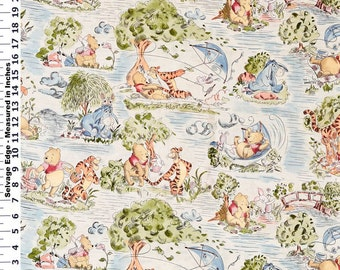 Winnie the Pooh Vintage print -   cotton fitted crib/toddler sheet