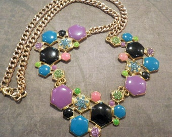 Colorful Modern Chunky Necklace
