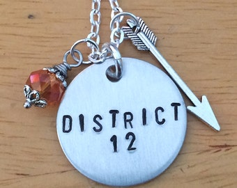 Hunger Games Inspired District 12 Charm Necklace