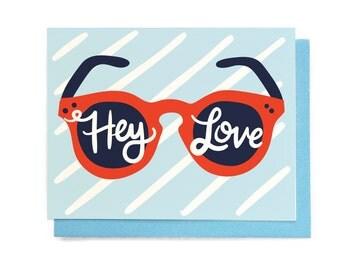 Pop Art Hey Love Card
