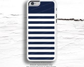 iPhone 6S Case,  iPhone 6S Plus Case Navy Stripes, TOUGH iPhone 5s Case Blue, iPhone 6 Case, Geometric iPhone Case, Navy iPhone Cover C38