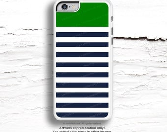 iPhone 7 Case Navy Green Stripes iPhone 7 Plus iPhone 6s Case iPhone SE Case iPhone 6 Case iPhone 6s Plus iPhone iPhone 5S Case C48