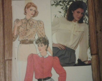 Butterick 6075 Ladies Blouse Vintage Sewing Pattern
