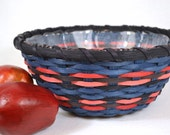 Round Hand Woven Basket with Glass Bowl Insert