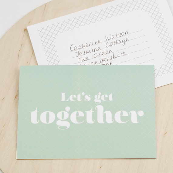 Items similar to Invitation Card Lets Get Together on Etsy – Invitation for a Get Together