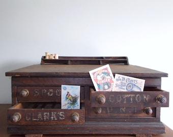 Clarks O.N.T. Four Drawer Oak Spool Cabinet - ON SALE!