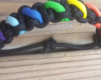 Rainbow Bracelet or Keychain!!!