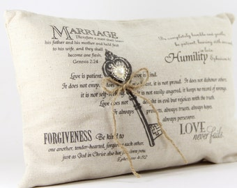 Ring Pillow, Rustic Wedding Pillow, Burlap Ring Bearer Pillow, Rustic Wedding, Burlap Wedding, Ring Pillow, Ring Bearer Pillow