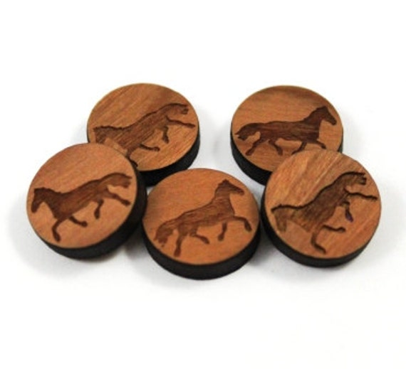 Laser Cut Supplies- 8 Pieces.Horse Charms - Laser Cut Wood Horse -Earring Supplies- Little Laser Lab Sustainable Wood Products