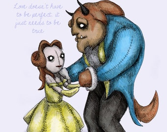 Belle Beast Plush Fine Art Print