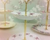 "Richmond "" Rose June "" Mini 2 Tier Cake Stand"