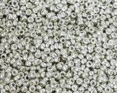 11/0 Miyuki Round Seed Bead - 1010 - Galvanized Silver - 10 grams - Color 11-1051