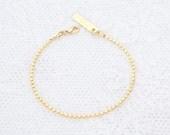 Bracelet en or fin délicat or Gourmette couches demoiselle d'honneur cadeau 24k or ou argent plaqué bijoux.
