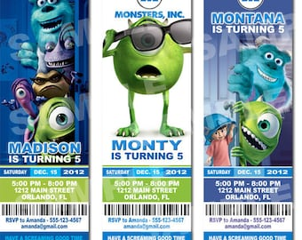 Monsters Inc Invitation Printable - Printable Birthday Party Invitation