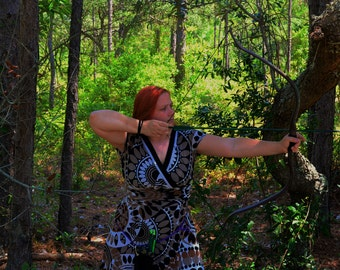 Wood Elf Recurve Bow  with 3 Matching Target Arrows