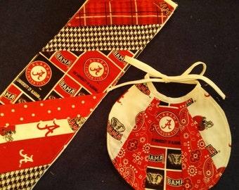 Alabama Burp Cloth and Bib Set