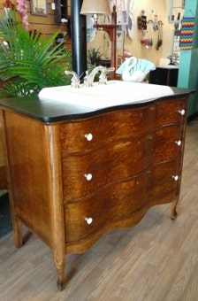 Day Grad Gift Upcycled Vintage Dresser Bureau Sink Vanity Bathroom