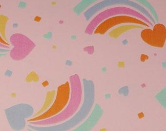 Vintage Gift Wrap - Rainbow Hearts