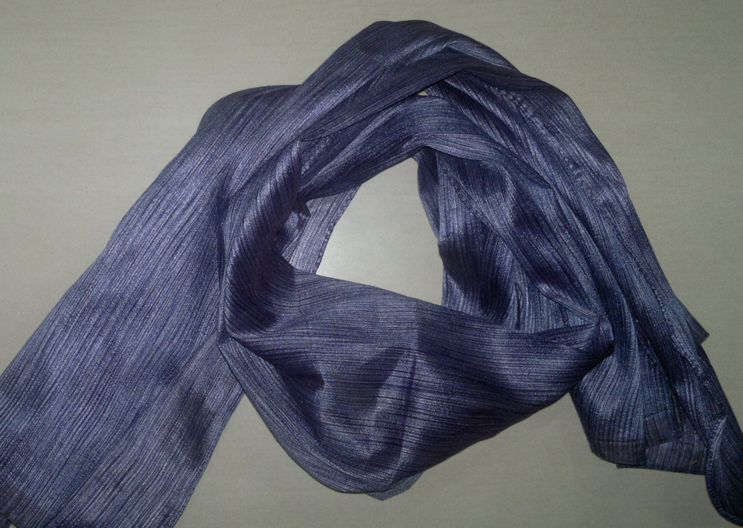 small scarf indian silk sari scarf blue neck scarf by