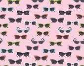 Riley Blake Fabric Novelty Glasses Pink - One Yard