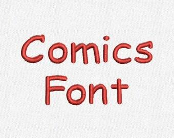 Comics Embroidery Font