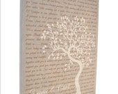 Anniversary Canvas Giclee: Personalized Tree Couples Names Special Song Wedding Vows First Dance Or Any Words Gifts For Couple Engagement