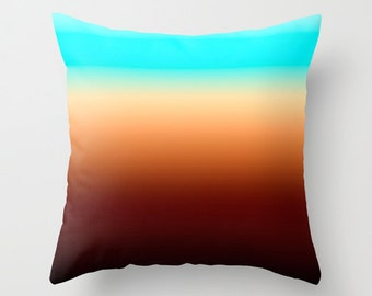 Solid Brown Throw Pillows Modern Minimalist Sunset Decor Pillow cover Cushion covers Pillow case Accent pillow Couch pillow Decore pillow