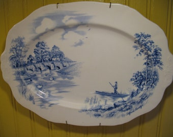 Alfred Meakin Vintage Blue English Transferware plate