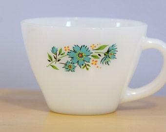 Vintage Fire King Floral Mug