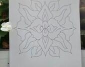Mandala Flower - Print and Color - Pdf