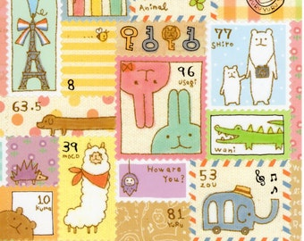 Japan Kawaii YURU ANIMAL sticker sheet Mind Wave 74487