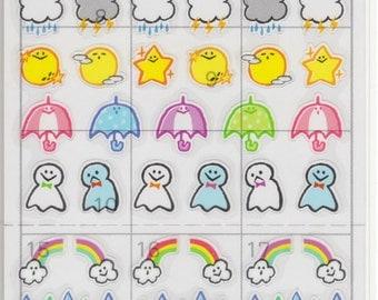 Japan Mind Wave kawaii WEATHER MARK Schedule sticker sheet/