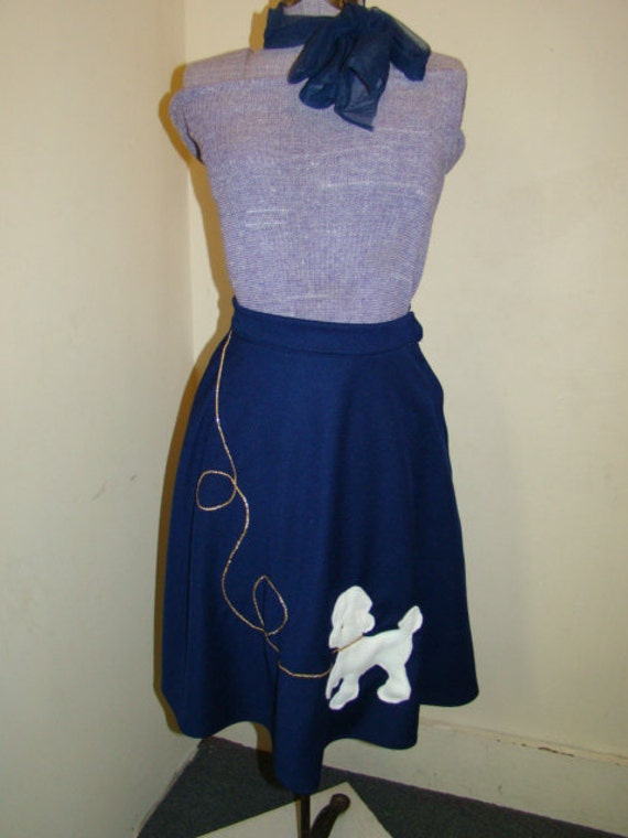 poodle skirt costume navy blue handmade sizes price