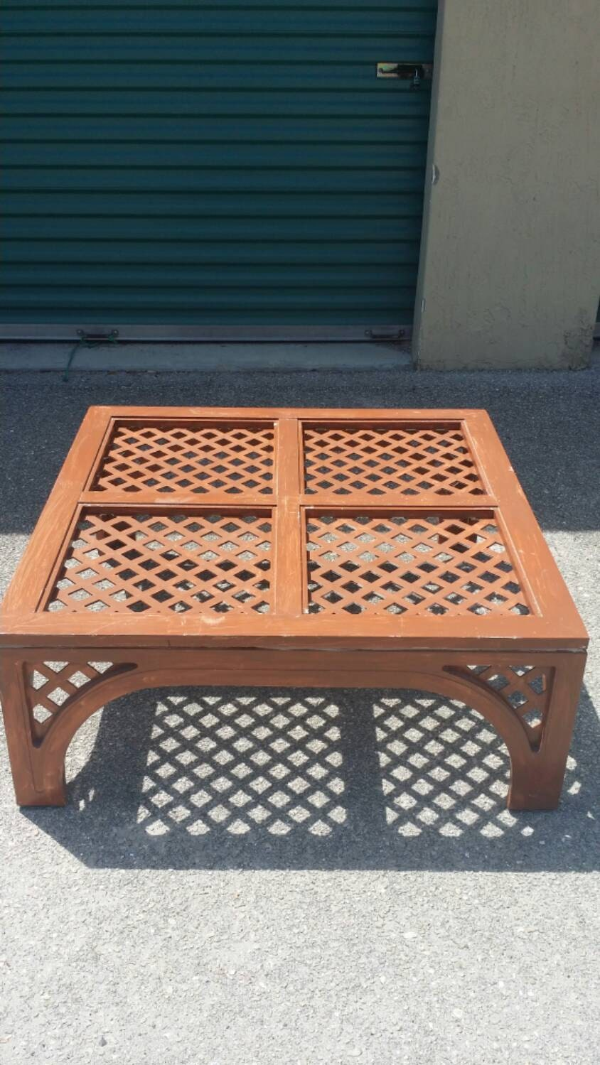 Vintage Lattice Coffee Cocktail Table Hollywood Regency Palm Beach Chinoiserie Chinese