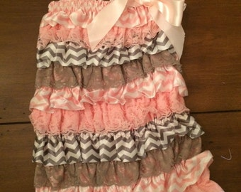 Pink and Gray Pettiromper