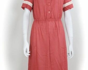 ON SALE Sailor Dress / 1960s Sailor Dress / Nautical Dress / Mad Men Dress / Mod Dress / Vintage Sailor Dress / 1960s Vintage Dress / Mod /