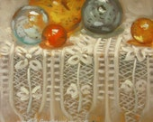 Glass and Lace...Original Oil Painting by Maresa Lilley, SND