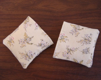 Bouquet of Flowers, Green Toile Hand Warmer Corn Cozies