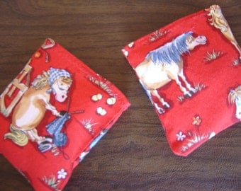 Silly Horse Red Print Hand Warmer Corn Cozie