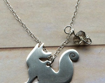 foxy charm necklace