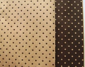 """CLEARANCE Heiko Small Flat Kraft Paper Bags...""""Brown Dots""""  Made in Japan  10 bags"""