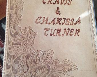 Hand Tooled Leather Wedding Photo Album