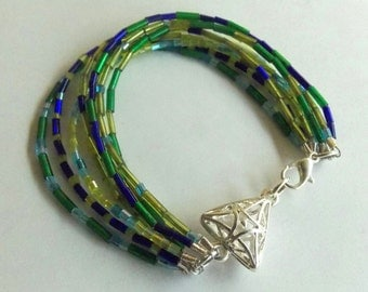 Blue/Green Triangle Bracelet