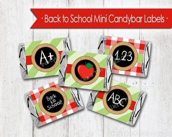 Back to School Mini Candy Bar Wrappers - Instant Download